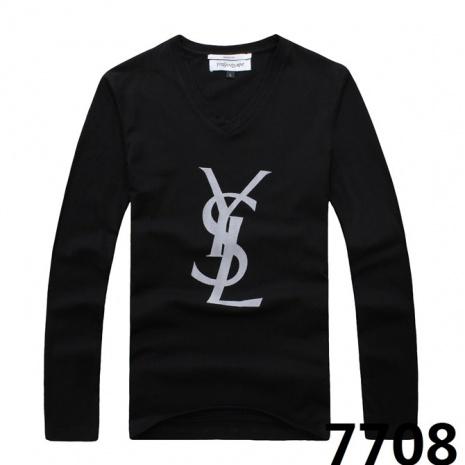 $20.0, YSL Long-Sleeved T-shirts for MEN #53376