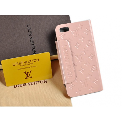 $32.0, New Louis Vuitton iPhone 5 AAA+ Leather case #58225