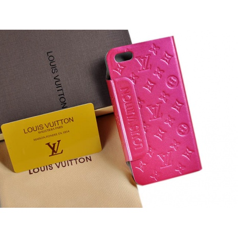 $32.0, New Louis Vuitton iPhone 5 AAA+ Leather case #58227