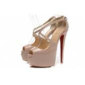 $55.0, Christian Louboutin 16cm High-heeled shoes for women #167373