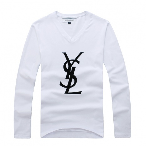 $30.0, YSL Long-Sleeved T-shirts for MEN #191923