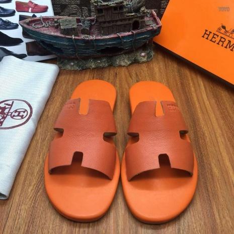 $64.0, Men's HERMES Slippers #219247