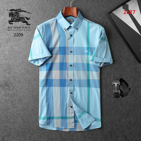 $35.0, Men's Burberry Shorts-Sleeved Shirts #223410