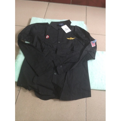 SPECIAL OFFER AERONAUTICA MILITARE Long-Sleeved Shirts for men SIZE :L #243672