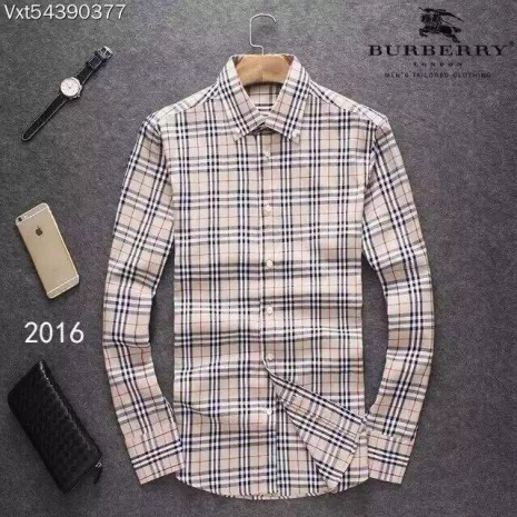 $39.0, Men's Burberry Long-Sleeved Shirts #257167