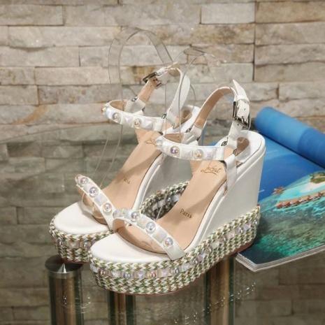 $96.0, Christian Louboutin 12cm High-heeled shoes for women #268744