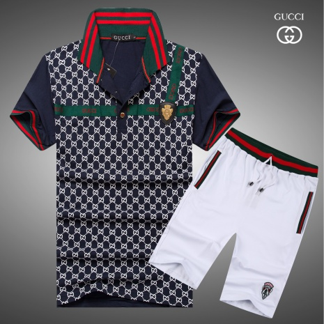 $43.0, Gucci short tracksuits for men #273562