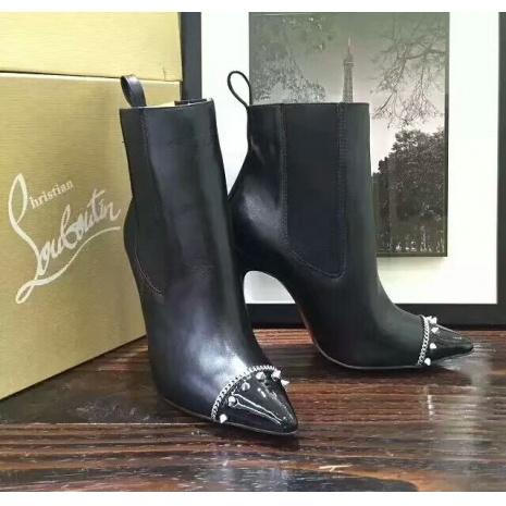 $85.0, Christian Louboutin 10cm heel boots for women #294281