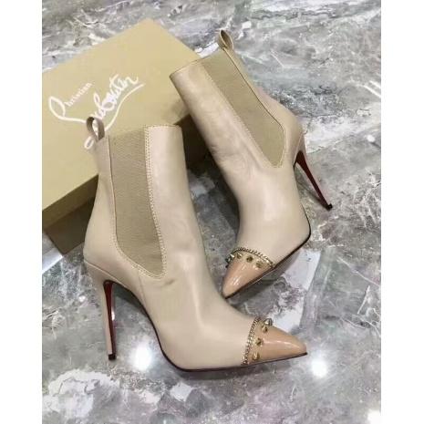 $85.0, Christian Louboutin 10cm heel boots for women #294283