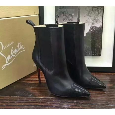 $85.0, Christian Louboutin 10cm heel boots for women #294284
