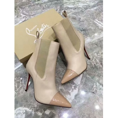 $85.0, Christian Louboutin 10cm heel boots for women #294285